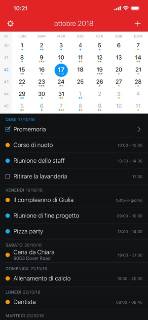 Calendario Con Frasi Del Giorno App.Fantastical 2 Per Iphone