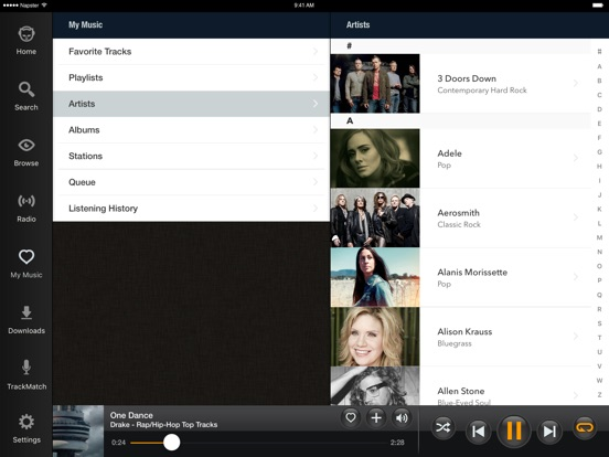 Napster - Top Music & Radio Screenshots