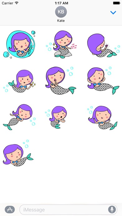 Mermaid Mermaidmoji Sticker screenshot 3