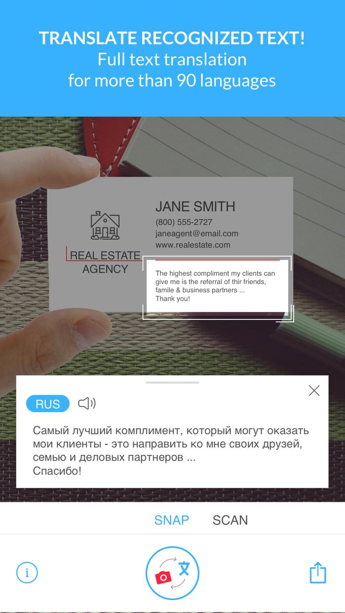 Scan & Translate+ Text grabber Screenshot