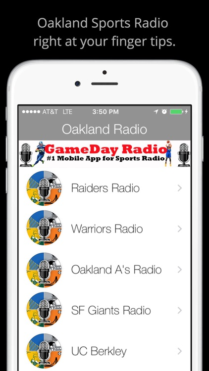 Oakland GameDay Radio - Raiders Warriors A's screenshot-0