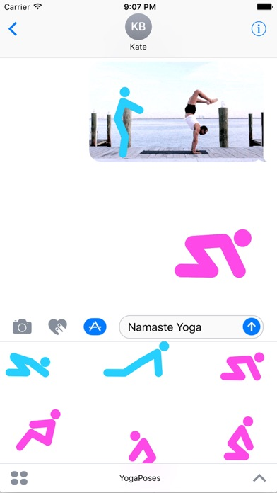 Yoga Poses Animated Stickers screenshot 2