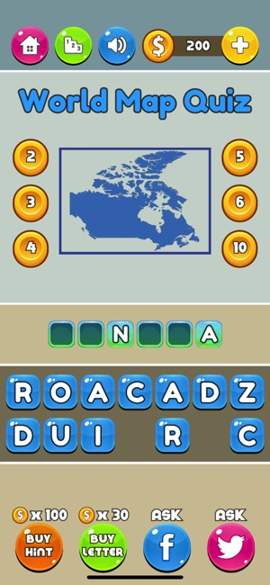 World map quiz on the app store iphone ipad gumiabroncs Choice Image