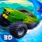 Unleash your adrenaline, jump into your large and mighty Bigfoot jeep and become one of the most skillful water slide racers with Monster Truck - Water Slide