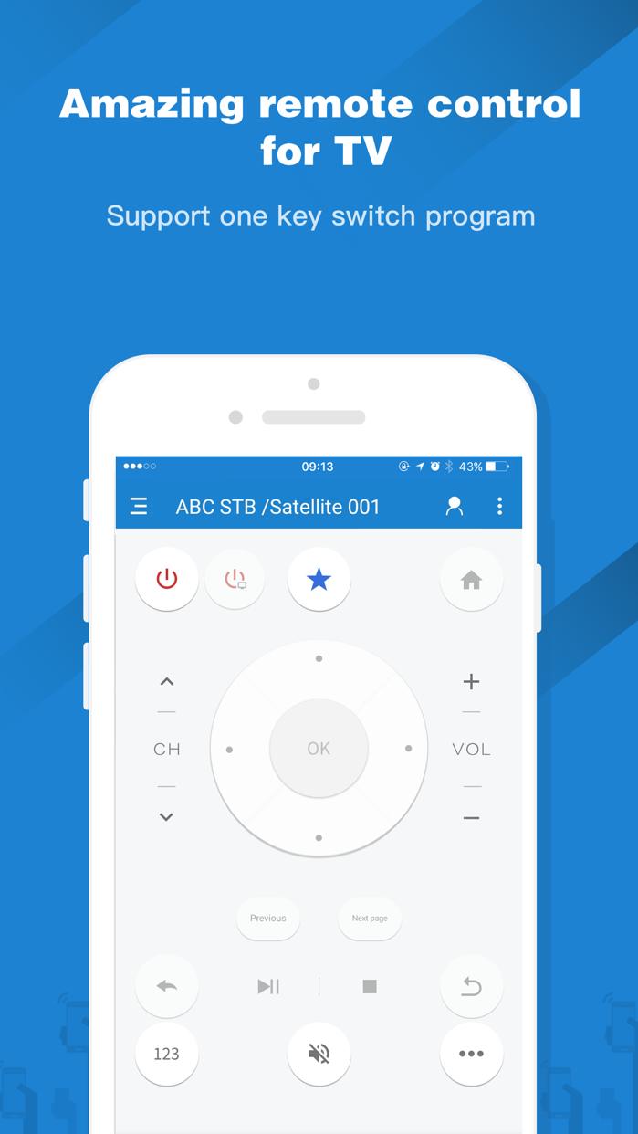 Universal TV Remote-ZaZaRemote Screenshot