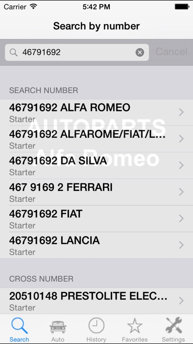 Screenshot for Autoparts for Alfa Romeo in Czech Republic App Store