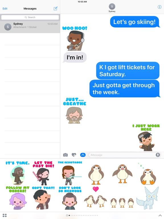 The Last Jedi Stickers screenshot 6