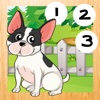 123 Animitiertes游戏计数婴儿:我的第一个数学练习。到10学习与小型犬来算