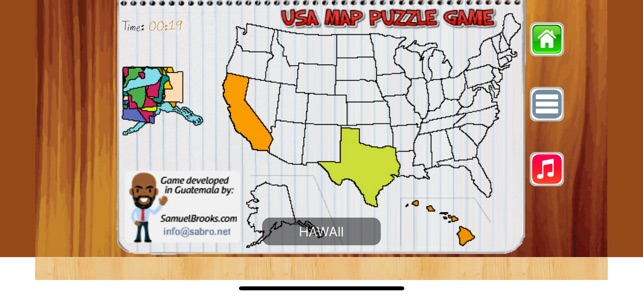 USA MAP 50 States Puzzle Game on the App Store