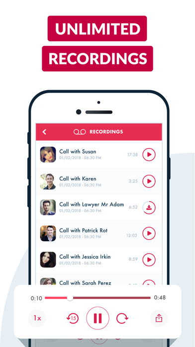 ACR Call Recorder for iPhone screenshot four