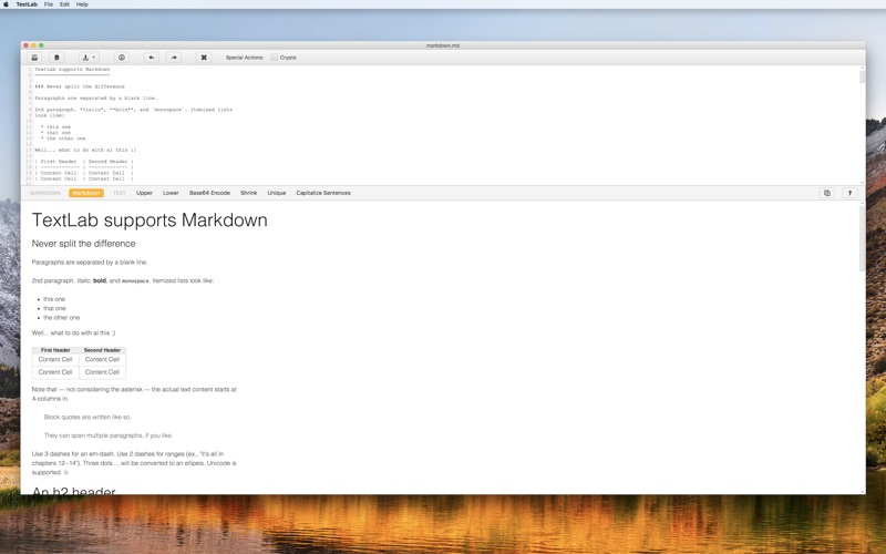 Textlab review screenshots