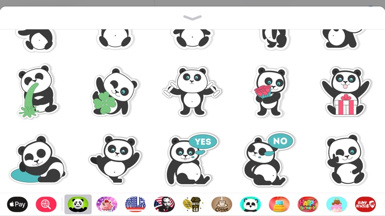 Pandamoji iMessage Sticker App screenshot-4