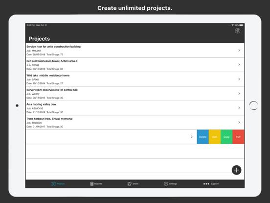 SnagBricks - Site Auditing Screenshots