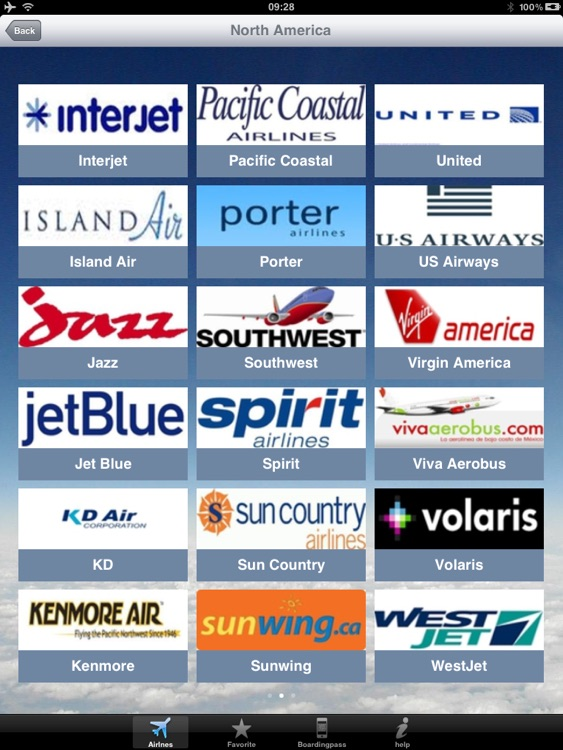 Airline Flight Check-In for the iPad