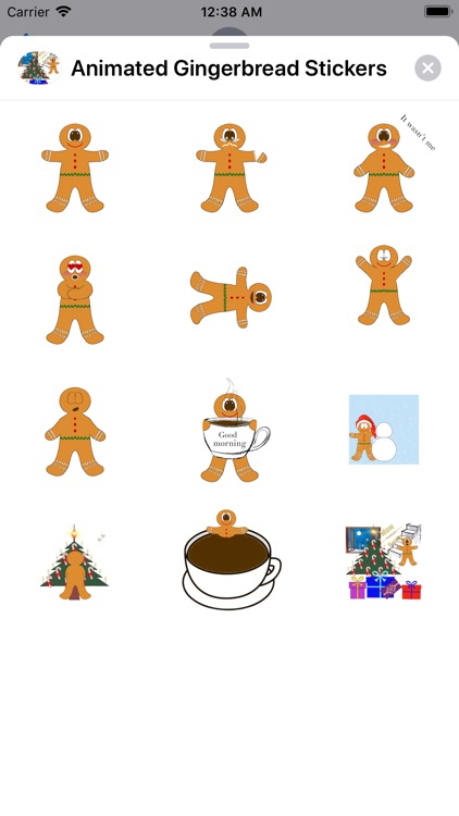 Animated Gingerbread Stickers screenshot-3