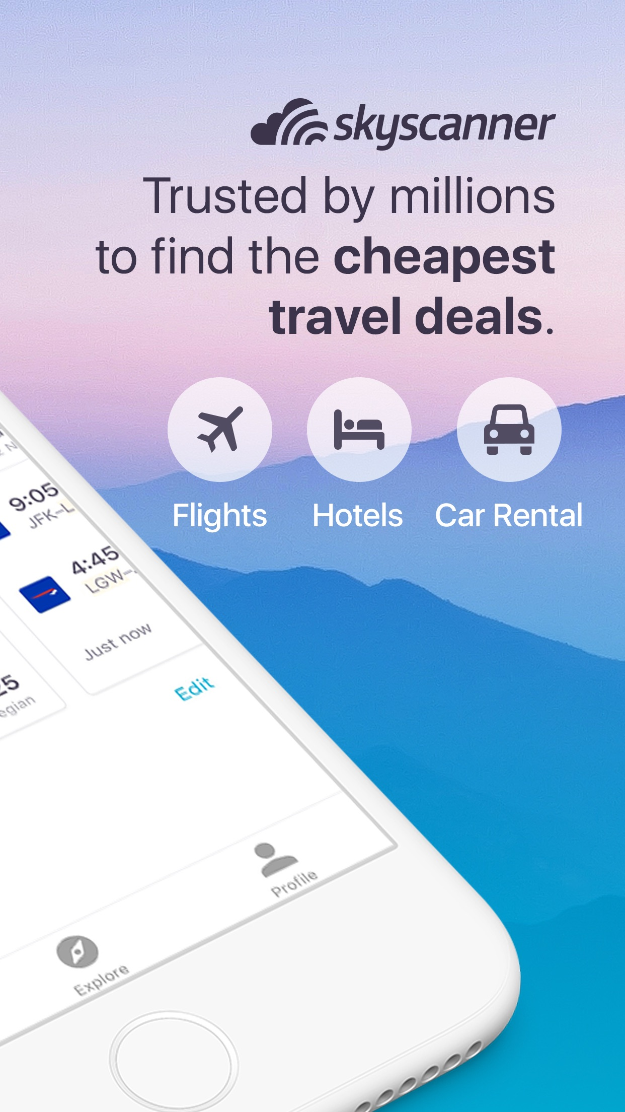 Skyscanner Flights Hotels Cars Screenshot