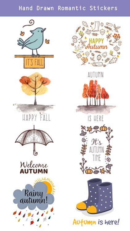 Autumn Love - Most Beautiful Autumn Stickers screenshot-3