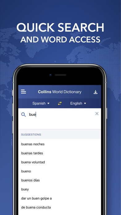 Collins World Dictionary screenshot two