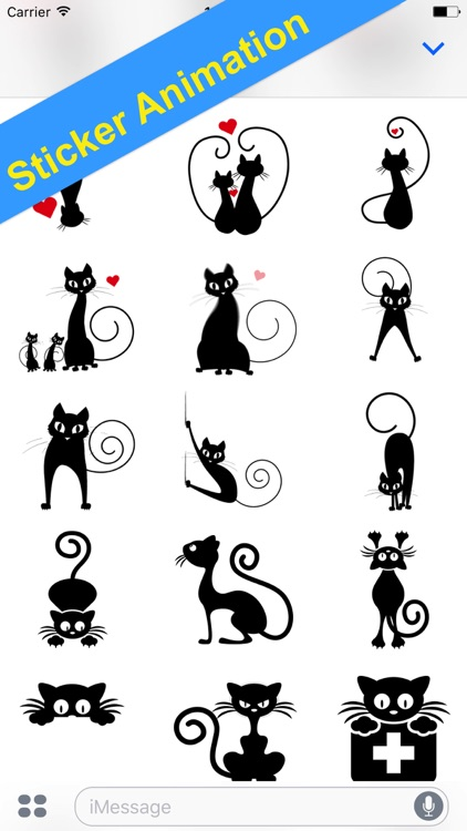 Sticker Black Cats for iMessage