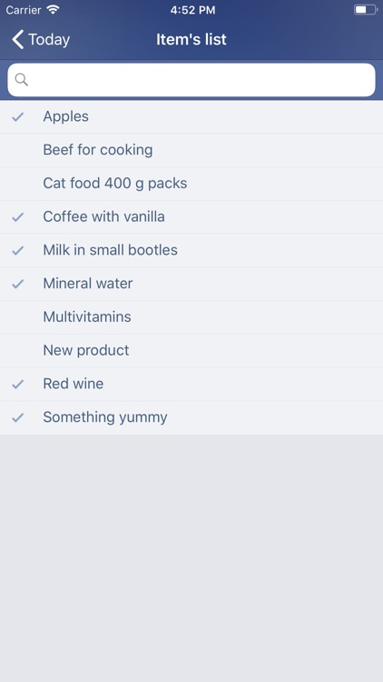 Just Buy! - Shopping list