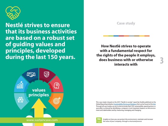 SustainCase: How Nestlé strives to operate with a fundamental
