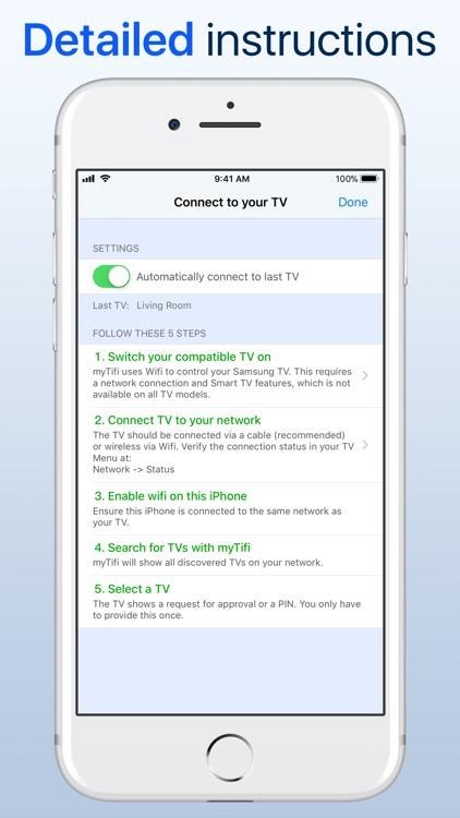 myTifi remote for Samsung TV screenshot-6