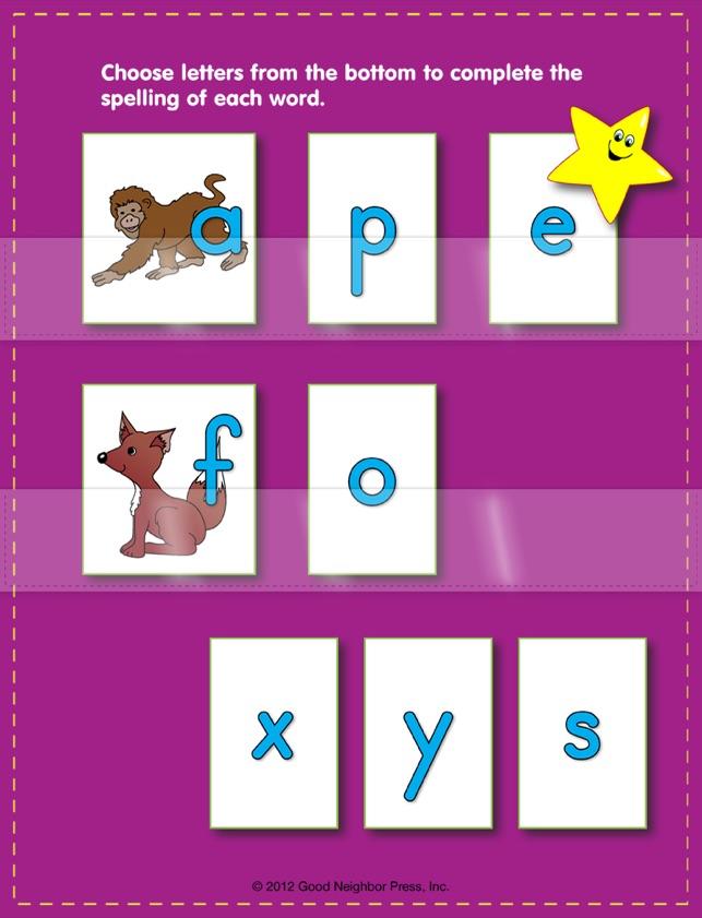 Spelling 3-Letter Words 4+