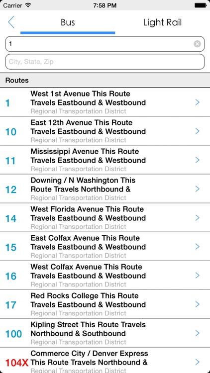 Transit Tracker - Denver screenshot-4