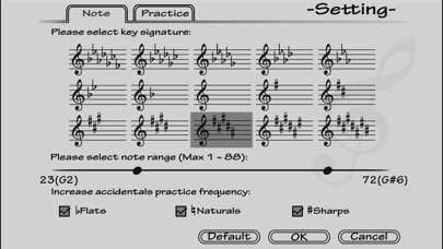 Piano Sight Reading - Lite Screenshot