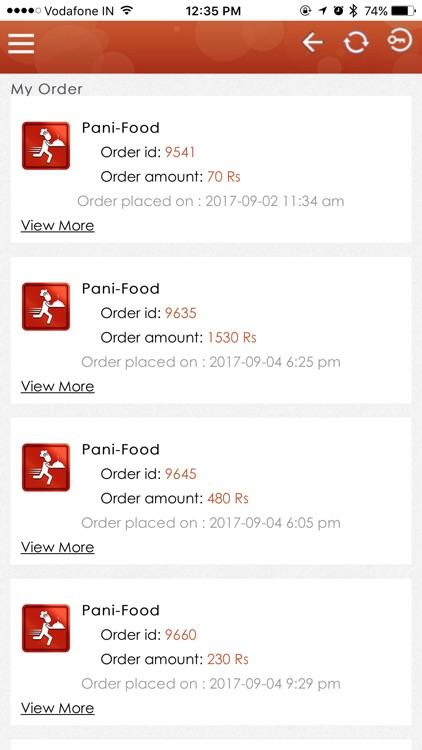Pani Food Order screenshot-4