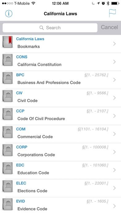 California Laws  (CA Code) screenshot one
