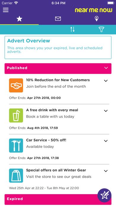 NearMeNow Retailer screenshot one
