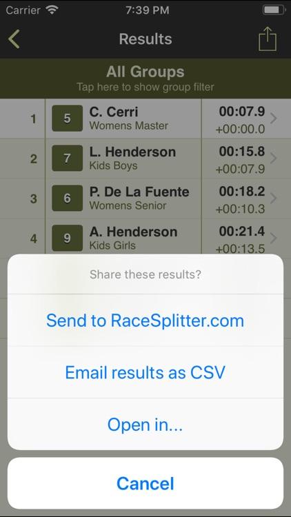 RaceSplitter — Race Timer screenshot-4