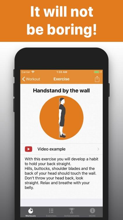 Posture training straight back screenshot-4