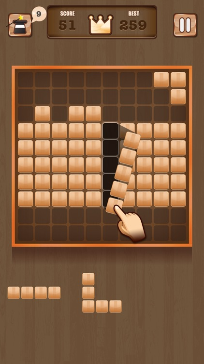 Wooden 100 Block - Hexa Puzzle Logic Mania screenshot-2