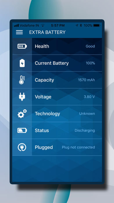 Extra Battery Screenshot on iOS