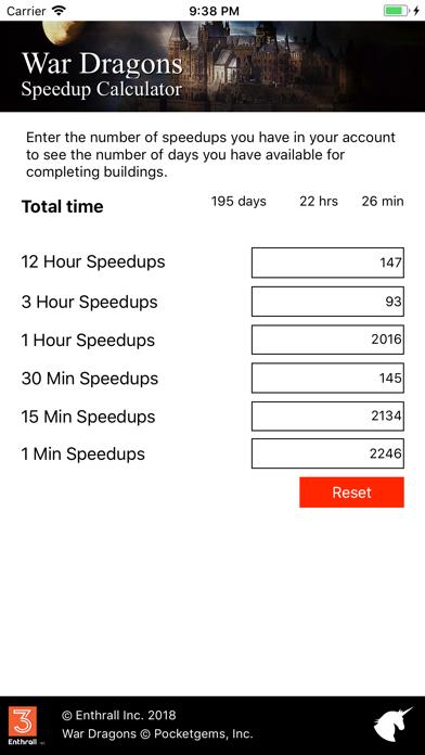WD Speedup Calculator screenshot 1
