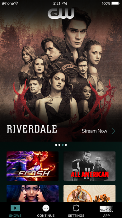 The CW app image