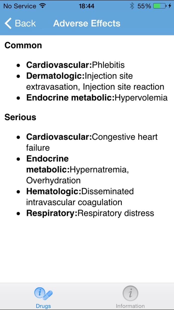Micromedex Drug Reference Screenshot