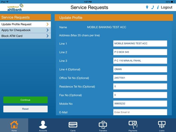 Ahlibank M-Bank for iPad