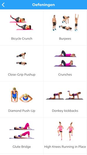 workouts voor thuis afvallen