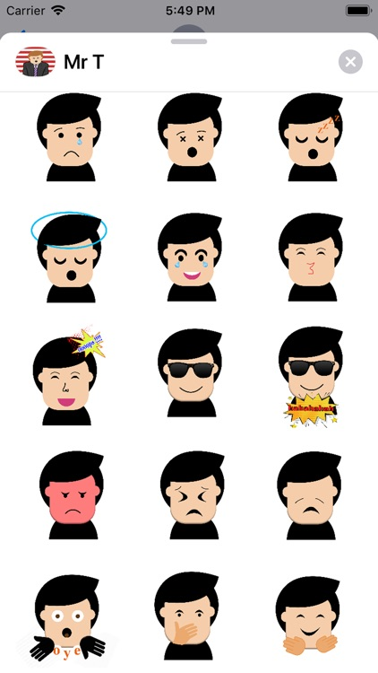 Mr.T stickers