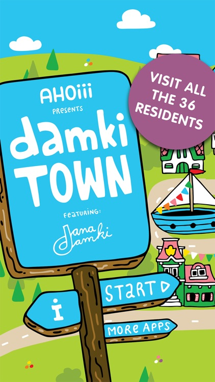 Damki Town Kids Coloring Book