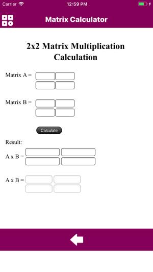 Calculator Of Matrix on the App Store