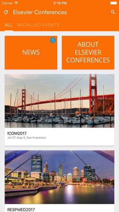 Elsevier Conferences App screenshot 2