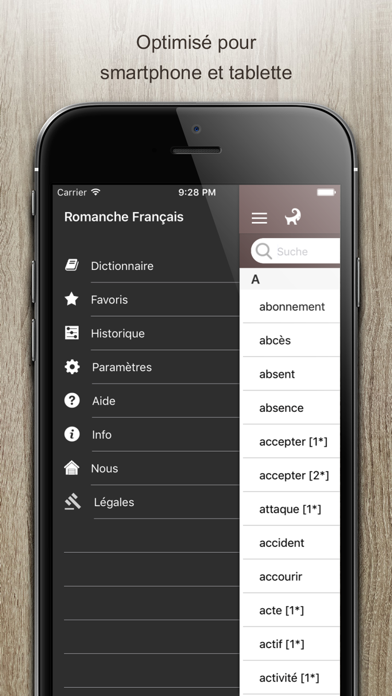 Screenshot for Dictionnaire Romanche Francais in Colombia App Store