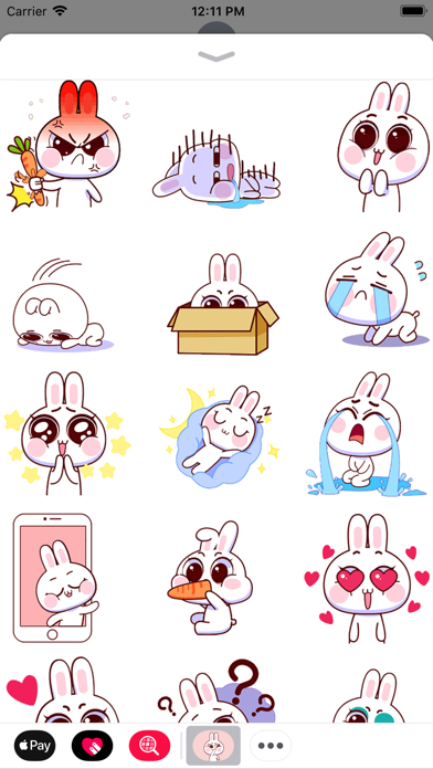 Baby Rabbit Animated Stickers