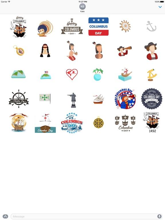 Happy Columbus Day Sticker screenshot 3
