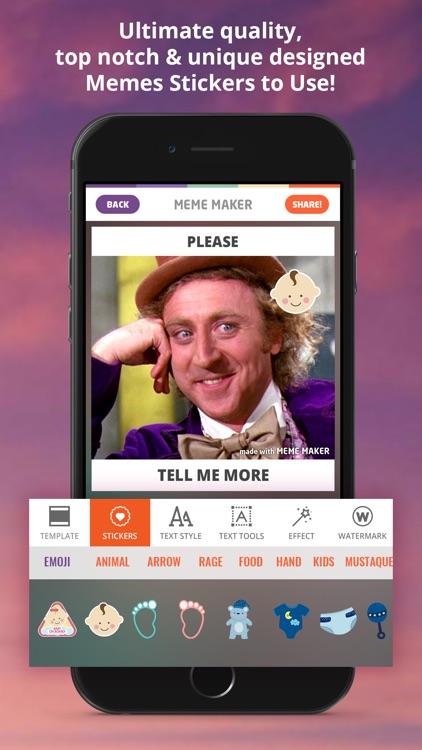 Meme Maker - Memes Generator GIF Maker Emoji maker screenshot-3