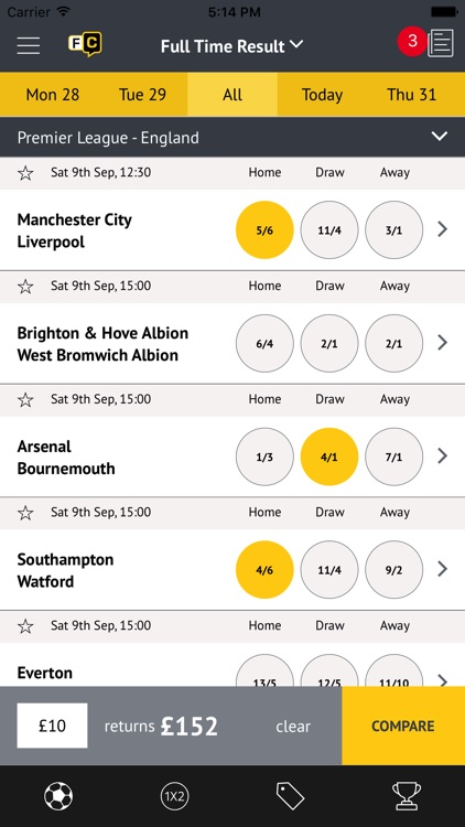 weekend football coupon odds